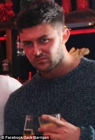 The woman had earlier been having sex with Mr Garrigan at the flat
