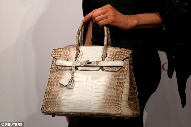 88b9964b241 The most expensive handbag ever to be sold  This rare Hermès Himalayan Nilo  Crocodile Birkin