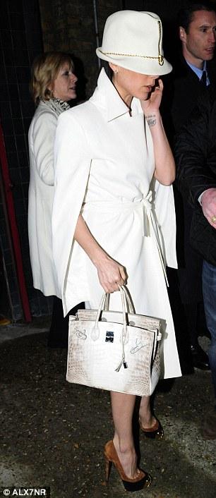 e3debe1b0159 Diamond-encrusted albino crocodile Hermès Birkin bag is snapped up for   300
