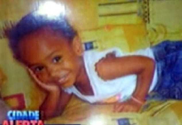 The body ofRaiana, pictured at a younger age, was found dead on a country farm in Buenopolis in the state of Minais Gerais, around 440 miles north of Rio de Janeiro