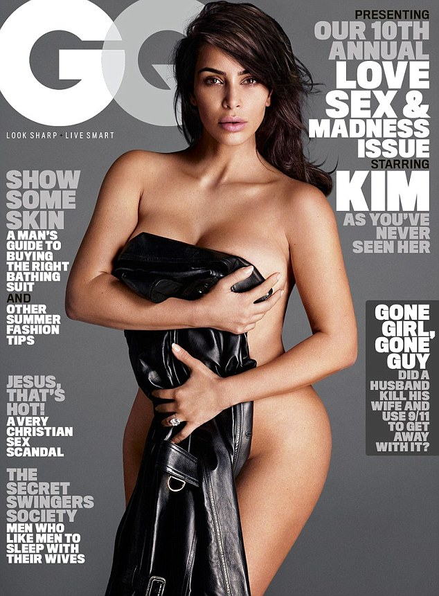 Curves ahead: Kim Kardashian posed naked for her first ever cover of GQ magazine