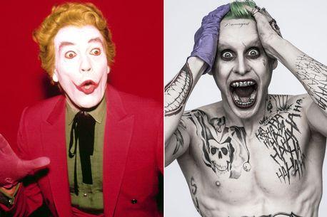Cesar Romero, left, and Jared Leto as the Joker