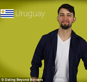 Keeping the faith: The clip reports that Uruguayan men are the most faithful at 47 per cent while Argentinian women are even more loyal at 55 per cent