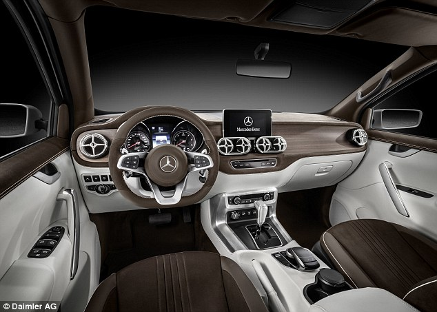 Inside, the X-Class is expected to lift many design features, materials and components from existing Mercedes passenger cars