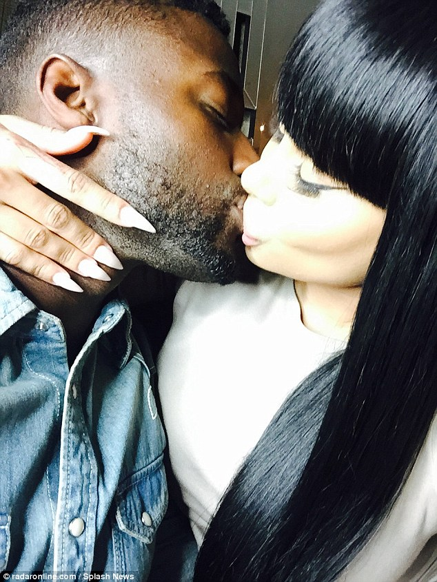 Controversial kiss: A picture of Blac Chyna, 28, and Pilot Jones kissing emerged online this week. It is unclear when it was taken